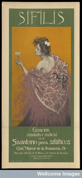 L0070284 A woman representing syphilis